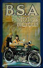 Blechschild B.S.A. Motor Bicycles Motorrad Nostalgieschild Schild 20x30