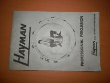 Hayman Percussion All Star Catalogue Alf Bigden Brian Bennett Paul Hammond 1969