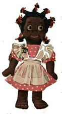 """Vintage Toy Doll PATTERN 7329 Pattern for Piccaninny Dolls boy & girl 17"""" tall"""