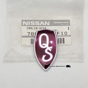 OEM Nissan Purple Qs rear emblem JDM S13 240SX Silvia badge 78896-67F10