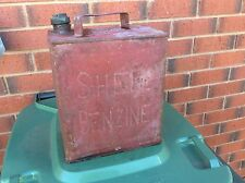 VINTAGE EARLY SHELL PETROL TIN CAN