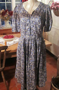 VINTAGE LAURA ASHLEY DRESS.VERY GOOD CONDITION. SIZE 14.