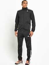 adidas 3 Stripe Entry Poly Tracksuit Mens SIZE S(36/38) REF 3756*