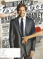 JUNE JULY 2011 ESQUIRE MAGAZINE BRADLEY COOPER HANGOVER SILVER LININGS PLAYBOOK