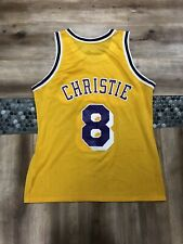 DOUG CHRISTIE LOS ANGELES LAKERS VINTAGE 90s CHAMPION NBA BASKETBALL JERSEY 44