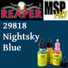 NIGHTSKY BLUE 29818 -MSP HD 15ml 1/2oz paint pot peinture REAPER MINIATURE bleu