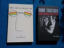 TWO BOOKS ON JOHN LENNON BY JOHN ROBERTSON & JON WIENER - PAPERBACK BOOKS
