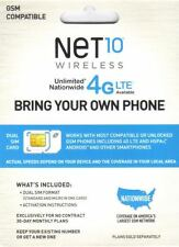 UNLIMITED AT&T WIRELESS NETWORK $35 MONTH ON THIS NET10 DUAL SIM CARD MICRO SIM