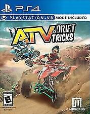 PS4 ATV & Drift Tricks + VR Virtual Reality NEW Sealed REGION FREE USA Game