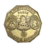 Jeton Publicitaire C. Detouche Orfèvrerie Paris Second Empire