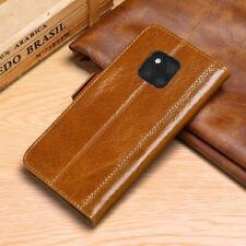 Luxury Genuine Cow Leather Flip Wallet Case Cover For Huawei Mate 20 Lite Pro