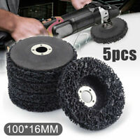 Metalworking 100x16mm Poly Strip Disc Grinder Wheel Paint Rust Removal Clean Set