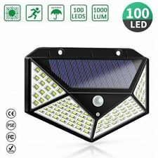 New 100 LED Solar Powered PIR Motion Sensor Light Garden Outdoor Security Lights