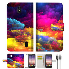 Colorful Cloud Phone Wallet Case Cover For Huawei Ascend Y625-- A021