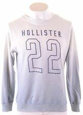HOLLISTER Mens Sweatshirt Jumper XS Blue Cotton  CC14
