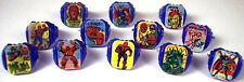 1960's Vari Vue Marvel Superhero Flicker Ring Set Of (12)