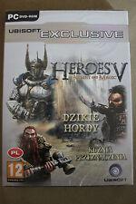 Heroes of Might and Magic 5 + Dzikie Hordy + Kuźnia PC Polish New Sealed Polska