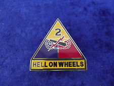 (a13-ad27) us tanques tropa 2nd Armored Combat Service ID badges
