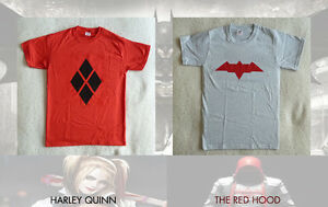 Batman Arkham Knight Harley Quinn or Red Hood t-shirts