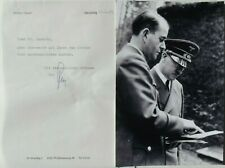 Albert Speer Architect & Minister Armaments World War II Germany Signed Letter