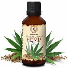 Huile de Chanvre Vierge 100% Pur et Naturelle 50ml - Cannabis Sativa Seed Oil...