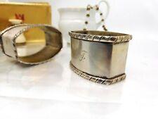 2`große artdeco Serviettenringe Silber 800 Meister Z R um 1920 Tafelsilber Top