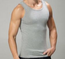 MENS VEST UB COLLECTION 100% COTTON  STRETCH FITTED S M L XL GREY