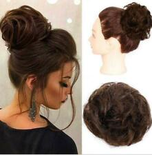 Human Hair Messy Elastic Rubber Band Premium Chignon Wrap On Fluffy