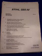 Original Ersatzteilliste 11/1979 Stihl 020 AV - Rarität