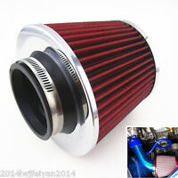 """Car 3"""" High Flow Inlet Short RAM Cold Air Intake Round Cone Air Filter Cleaner"""
