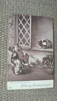 """Meet Me By The Moonlight Alone"" Tuck Cats Serenade Romantic 1904 Postcard"