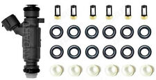 Fuel Injector Repair Servie Kit Orings Filters Caps for Infiniti Nissan V6 3.5L