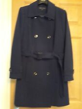 Marks And Spencer C'n Ladies Sz16P Bnwt Double Breasted And Belted Indigo Coat