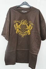 King of the Cage (Brown) - Wrestling T Shirt Med NEW