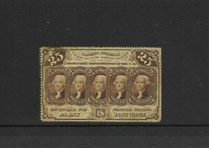 1862 US Fractional 25c Postage Currency - Perf 12 - With folds