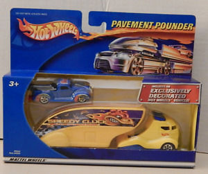 Hot Wheels Pavement Pounder Semi Transporter 1940 Ford Pickup Truck