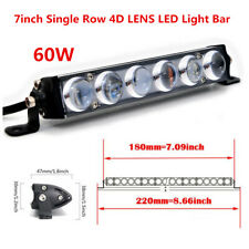 7inch 4D LENS LED Offroad Light Bar Fog Driving Fit For ATV SUV TRUCK BOAT 4WD