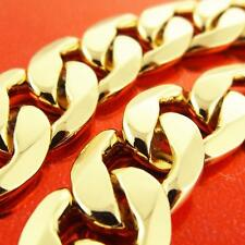NECKLACE CHAIN GENUINE REAL 18 K YELLOW G/F GOLD SOLID MEN'S HEAVY CURB CUBAN