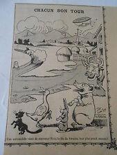Humour Chacun sont Tour Animaux voiture Aérostation Image Print 1906
