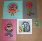 Marq Spusta Mini 5 Print SET Shnoogie Boo Nifty Gnome Frustrated Flower Signed