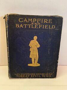 Campfire & Battlefield Rossiter Johnson Illust History of Civil War 1894 Book