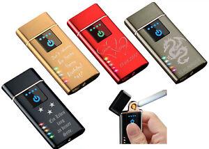 Sensor Touchscreen Feuerzeug Glühspirale+ Gravur nach Wunsch+ USB Kabel Lighter