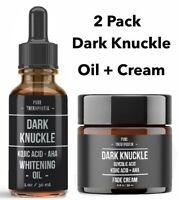2Pk- Dark knuckle Skin Whitening Kojic Acid AHA lightening Bleaching Oil + Cream