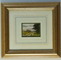 ORIGINAL FINE ART WATERCOLOUR SIGNED MINIATURE FROM RENOWNED ARTIST DIGBY PAGE