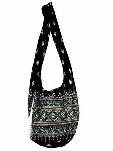 SLING Bag COTTON 40 PRINTs CROSSBODY bag THAI LARGE BOHO hippie style