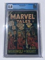 Marvel Tales #116 CGC 5.0 WEREWOLF BY NIGHT Atlas Comics 1953 GOLDEN - Off-White