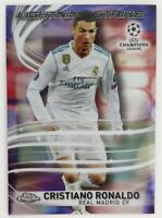 2018 Topps Chrome UEFA Champions League Cristiano Ronaldo Lightning Strike