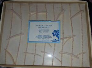 New Pottery Barn Kid SHARK Teeth GARLAND decor Bedroom WALL surf Hawaiian Ocean