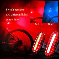 Bike Bicycle Cycling USB Rechargeable Front Rear Lights 4 Modes LED Tail Lamp