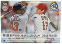 2018 BOWMAN CHROME BASEBALL HTA CHOICE RANDOM PLAYER 1 BOX BREAK - 3 AUTOS #3